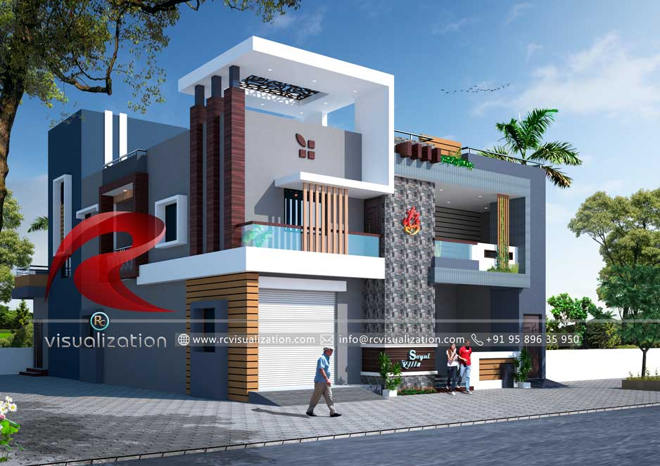 Commercial buildings gallery rc visualization structural plan and elevation designing company for Business building plans designs