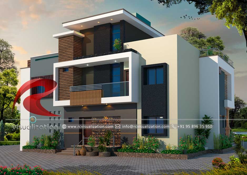 40D House Designs Gallery RC Visualization Structural Plan And Fascinating 3D Bedroom Design Property
