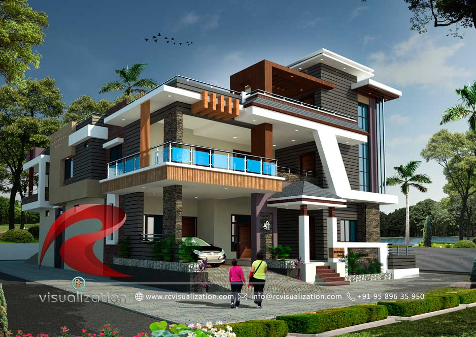 3d Bungalow Designs Gallery Rc Visualization Structural