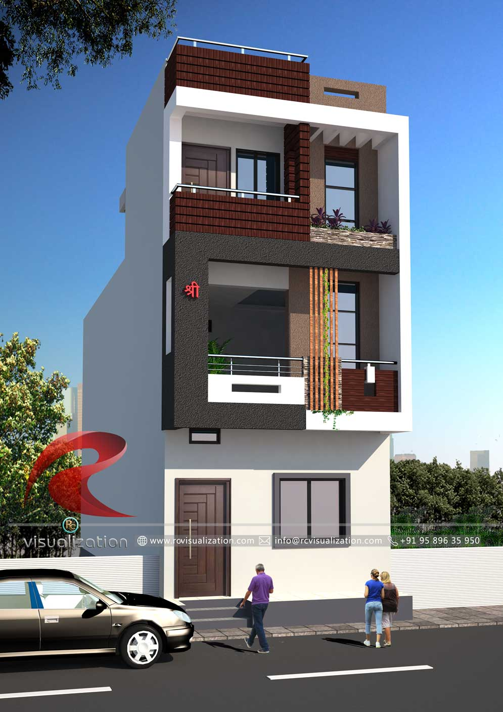 3d Narrow House Designs Gallery Rc Visualization