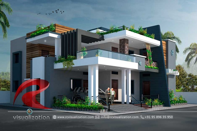 Rc Visualization 3d Elevation Design 3d Architectural